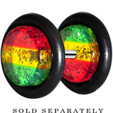Green Red Yellow Acrylic Rasta Glitter Cheater Plug