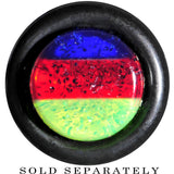 Blue Red Green Acrylic Vibrant Glitter Cheater Plug