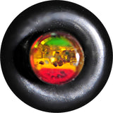 8 Gauge Green Red Yellow Acrylic Rasta Glitter Taper
