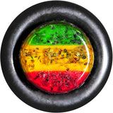 2 Gauge Green Red Yellow Acrylic Rasta Glitter Taper