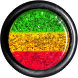 "1/2"" Green Yellow Red Acrylic Rasta Glitter Taper"