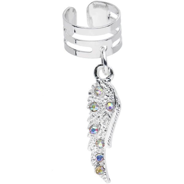Aurora Gem Heavenly Skies Angel Wing Dangle Ear Cuff