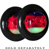 4 Gauge Green Red Blue Acrylic Vibrant Glitter Saddle Plug