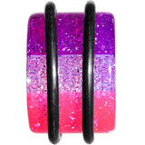4 Gauge Multi Pink Acrylic Perfectly Rosy Glitter Single Flare Plug
