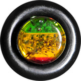 4 Gauge Green Yellow Red Acrylic Rasta Glitter Taper