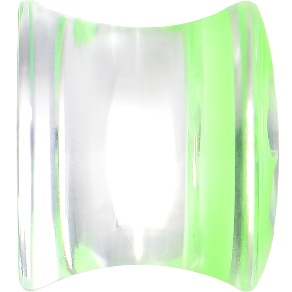 00 Gauge Clear Green Acrylic Lucky Clover Saddle Plug