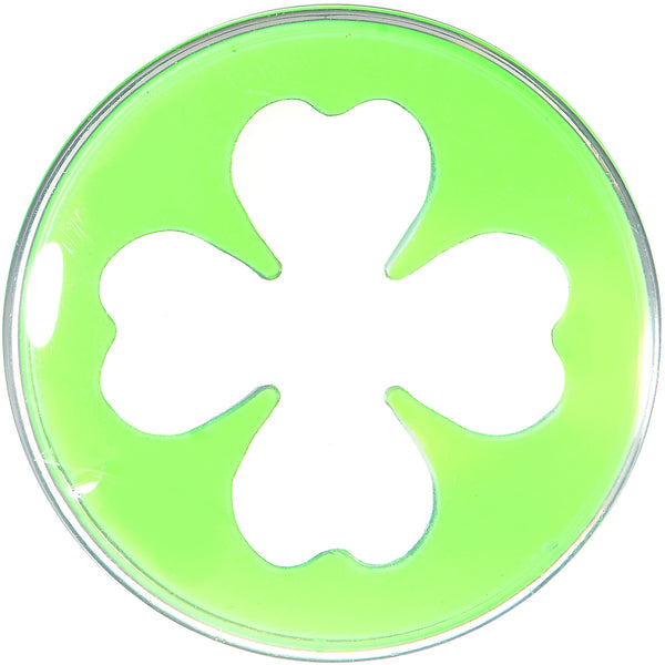 18mm Clear Green Acrylic Lucky Clover Saddle Plug