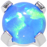 16 Gauge 3mm Faux Blue Prong Set Opal Titanium Dermal Top