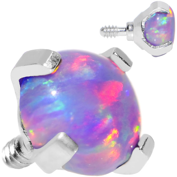 16 Gauge 4mm Faux Purple Prong Set Opal Titanium Dermal Top