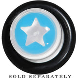 0 Gauge Clear Light Blue Acrylic Wish on a Star Taper