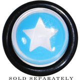 00 Gauge Clear Light Blue Acrylic Wish on a Star Taper