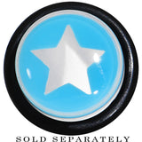 "1/2"" Clear Light Blue Acrylic Wish on a Star Taper"