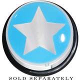 18mm Clear Light Blue Acrylic Wish on a Star Taper