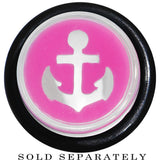 "1/2"" Clear Pink Acrylic Set Sail Nautical Anchor Taper"