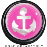 "9/16"" Clear Pink Acrylic Set Sail Nautical Anchor Taper"