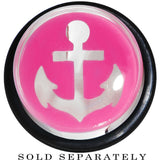 "5/8"" Clear Pink Acrylic Set Sail Nautical Anchor Taper"