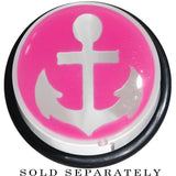 18mm Clear Pink Acrylic Set Sail Nautical Anchor Taper