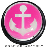 20mm Clear Pink Acrylic Set Sail Nautical Anchor Taper