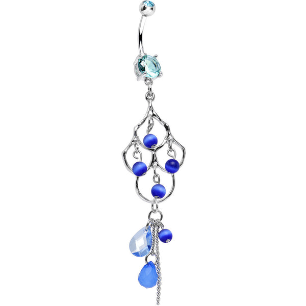 Blue Double Gem Baroness Katrina Chandelier Belly Ring