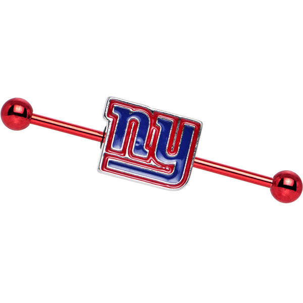 Officially Licensed NFL Red New York Giants Industrial Barbell 38mm