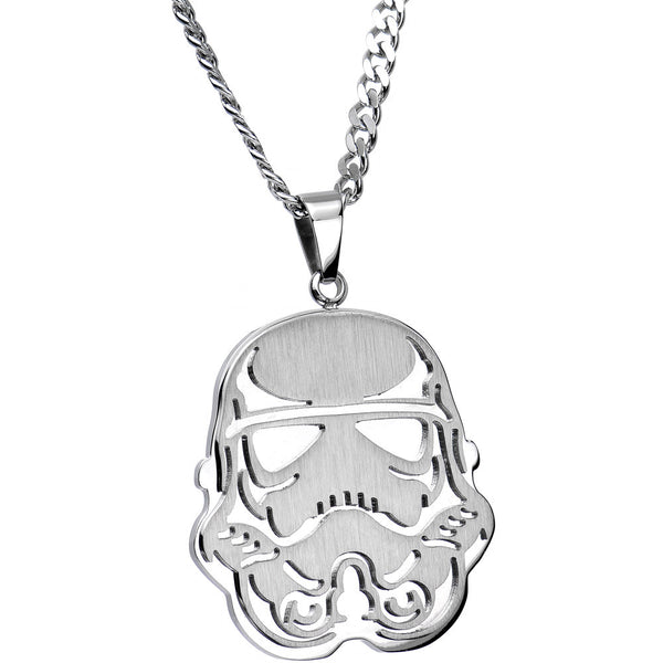 Officially Licensed Steel Star Wars Stormtrooper Pendant Necklace