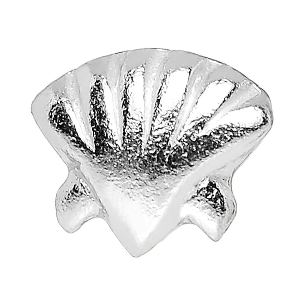 22 Gauge 925 Sterling Silver Seaside Seashell Nose Bone