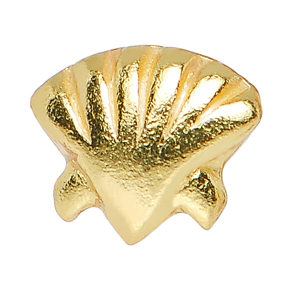 22 Gauge 925 Sterling Silver Gold Plated Seaside Seashell Nose Bone