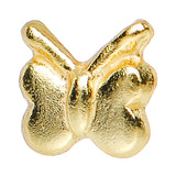 22 Gauge 925 Sterling Silver Gold Plated Perky Butterfly Nose Bone