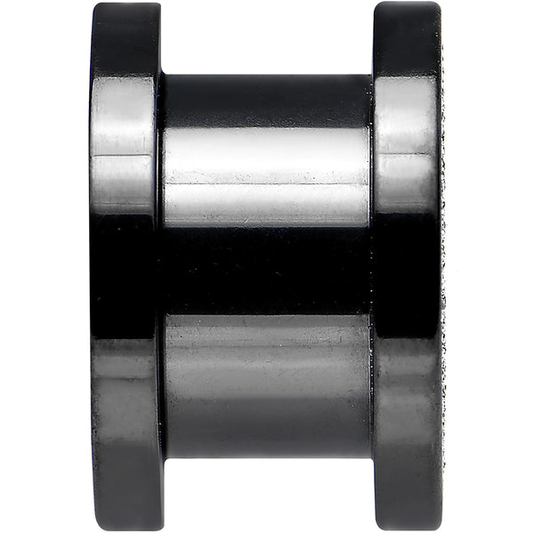 00 Gauge Black Anodized Titanium Zebra Sugar Glitter Screw Fit Plug