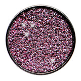 4 Gauge Black Anodized Titanium Pink Sugar Glitter Screw Fit Plug