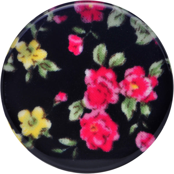 30mm Acrylic Black Multicolored Old Fashioned Flowers Saddle Plug