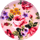 46mm Acrylic Pink Grandma's Wallpaper Flowered Saddle Plug