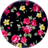 46mm Acrylic Black Multicolored Old Fashioned Flowers Saddle Plug