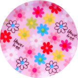 50mm Acrylic Pink Multicolored Flower Power Saddle Plug