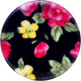 "5/8"" Acrylic Black Multicolored Old Fashioned Flowers Saddle Plug"