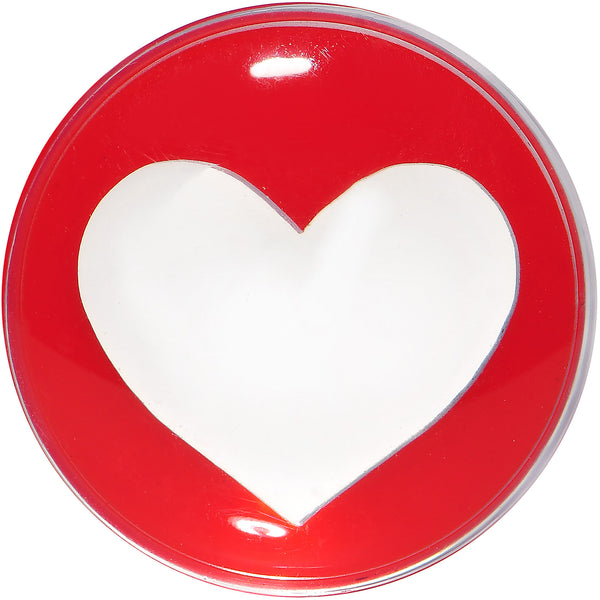 18mm Clear Red Acrylic Adoring Heart Saddle Plug