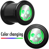 13mm Multicolor Flashing Skull LED Light Up Screw Fit Plug Set