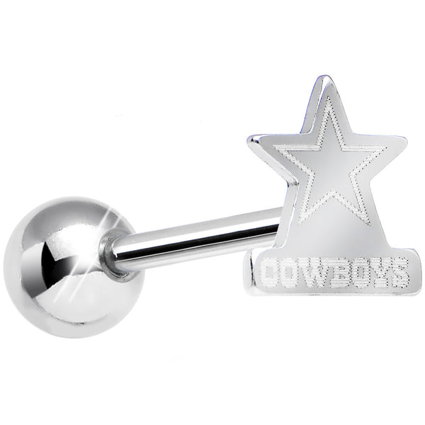 Officially Licensed NFL Cut Out Dallas Cowboys Tongue Ring Barbell