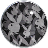 2 Gauge Officially Licensed Black Gray Playboy Bunny Screw Fit Plug