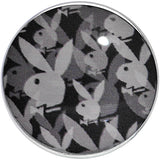 00 Gauge Officially Licensed Black Gray Playboy Bunny Screw Fit Plug