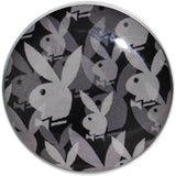 "1/2"" Officially Licensed Black Gray Playboy Bunny Screw Fit Plug"
