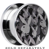 "5/8"" Officially Licensed Black Gray Playboy Bunny Screw Fit Plug"
