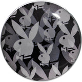 "3/4"" Officially Licensed Black Gray Playboy Bunny Screw Fit Plug"