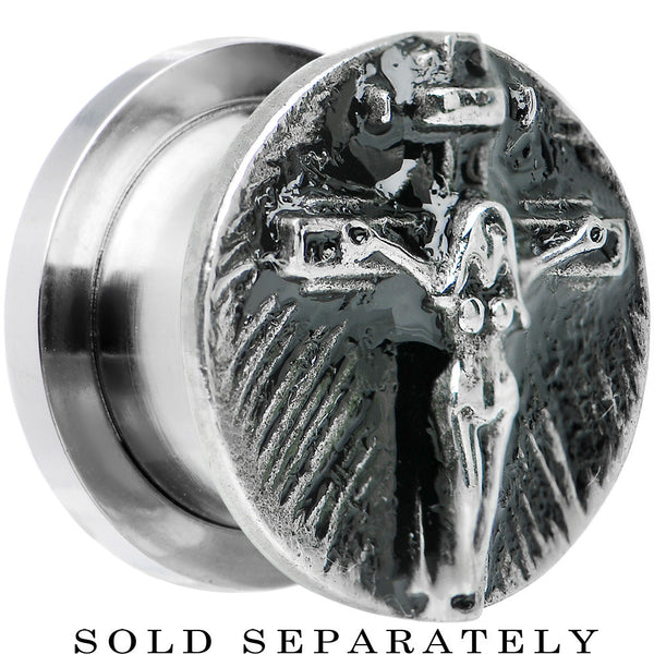 "1/2"" Stainless Steel Jesus on the Cross Screw Fit Plug"