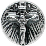 0 Gauge Stainless Steel Jesus on the Cross Screw Fit Plug