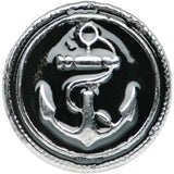 0 Gauge Stainless Steel Vintage Nautical Anchor Screw Fit Plug
