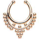 Rose Gold IP Fruit on the Vine Non-Pierced Clip On Septum Ring