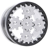 "7/8"" Stainless Steel Rotating Gears Screw Fit Tunnel Plug"