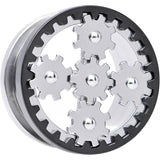 20mm Stainless Steel Rotating Gears Screw Fit Tunnel Plug