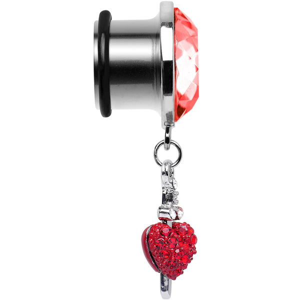 9/16 Red Gem Sword and Paved Heart Steel Plug
